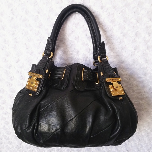 Juicy Couture Handbags - Juicy Couture Black Butter Leather Handbag